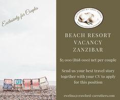 #crawfordcarruthers @crawfordandcarruthers #lifesabeach #beachjobs #zanzibar #zanzibarjobs #resortgm #resortcouples #islandjobs #islandcouples Beach Resorts, How To Apply, Positivity, Island, Website, Couples, Islands, Couple, Optimism