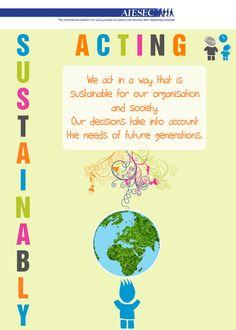 AIESEC Value: ACTING SUSTAINABLY