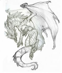 New Art Sketches Art Drawings Sketches Simple, Pencil Art Drawings, Animal Drawings, Dragon Tattoo Drawing, Realistic Dragon Drawing, Cool Dragon Drawings, Dragon Sketch, Dragon Artwork, Fantasy Drawings
