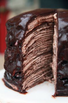Chocolate Crepe Cake   The Rancher's Daughter