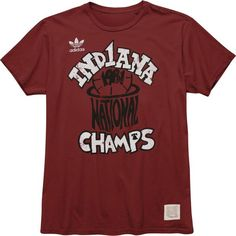 adidas Indiana Hoosiers Youth Vintage Vault 1981 College Basketball National Champions Super Soft T-Shirt - $9.99