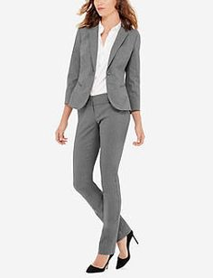 Grey Exact Stretch Simply Straight Pants & Jacket