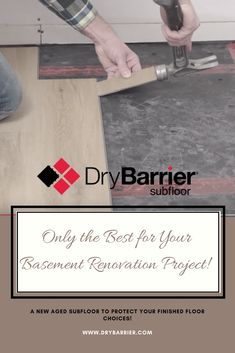 DryBarrier Subfloor Truly a Revolutionary New Aged DIY Subfloor Product in Today's Market. Today's Market, Basement Renovations, New Age, Revolutionaries, Lowes, Marketing, Projects, Pictures, Diy