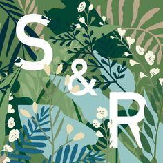 wedding invitation - GREENHOUSE prints & illustrations by Lotte Dirks