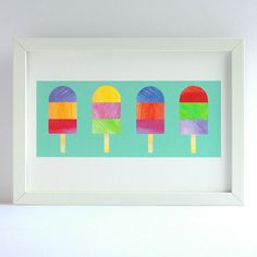 ice lolly print by striped paint design | notonthehighstreet.com