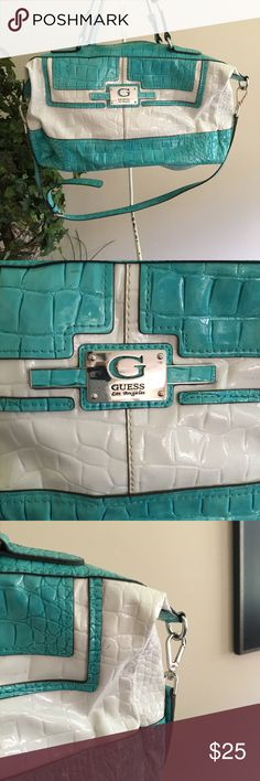 Teal and white guess purse Teal and white guess purse Guess Bags Shoulder Bags