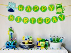 Our Little Monster Party Package by http://pinwheellane.etsy.com