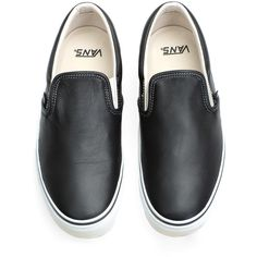 Vans Vault Classic Slip-On LX ($75) ❤ liked on Polyvore featuring mens, men's shoes, men's sneakers, shoes, sneakers, flats and men