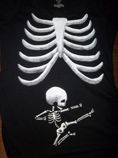 Long Sleeve - Ninja Skeleton Baby  Maternity Tee Shirt. Super Cute :)