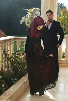 Muslim wedding couple  -) Happiness and fashion should not be taken away no  matter your religion or beliefs. By  Nolly c99c9cf519