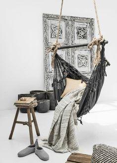 Hängematte selber machen - Stück mit Holz Gestell oder Ständer