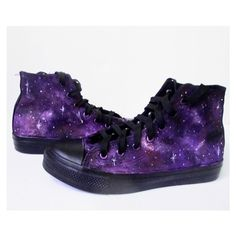 Custom Handpainted Purple Galaxy Sneakers 0cce02d6d48e