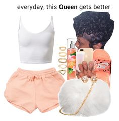 """""""Citrus Vibes"""" by melaninprincess-16 ❤ liked on Polyvore featuring NIKE, Lancôme and Forever 21"""