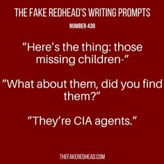 Writing Prompts No. 401-500 – The Fake Redhead Writes