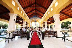 Riviera Maya wedding Grand Palladium Kantenah church, Nuestra Señora de las Nieves. Ideal venue for a traditional Catholic ceremony.  Mexico wedding photographers Del Sol Photography #catholicweddings #chapel #catholic