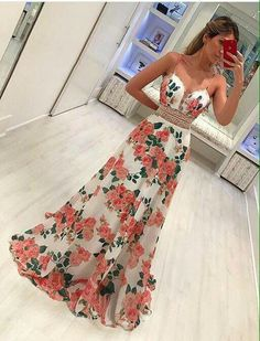 Straps floral long prom dress my style floral prom dresses, formal dresses, Floral Prom Dresses, Dresses Elegant, V Neck Prom Dresses, Best Prom Dresses, Flower Dresses, Trendy Dresses, Day Dresses, Cute Dresses, Strapless Dress Formal