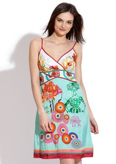 d309ef369d504 Bright spring dress to go with the bright spring shoes! I love Desigual,  one of my favorite designers - always colors!
