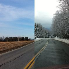 What a difference 100 miles makes. Monkton to Island Pond #VT.