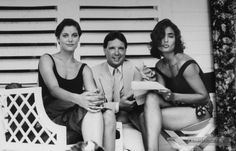 Licence To Kill - Behind the scenes photo of Carey Lowell & Talisa Soto