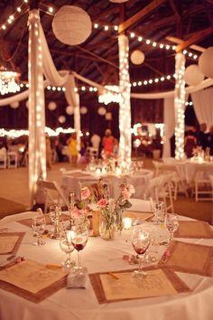 an idea of wedding tables?