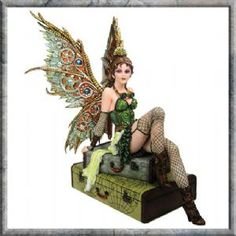 Steampunk Fairy Statue Rebecca Time Traveler of Atlas Figurine Cool Mythical Steampunk Home Decor, Steampunk Fairy, Steampunk House, Steampunk Wings, Steampunk Crafts, Steampunk Gadgets, Victorian Steampunk, Steampunk Fashion, Steampunk Goggles