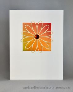 Simple but sweet. Would also look nice with a delicate sentiment stamped underneath the flower :-)