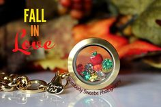 One of my favorite origami owl birthstones using fall colors and an apple with a medium gold locket Origami Owl Keychain, Origami Owl Necklace, Origami Owl Lockets, Origami Owl Jewelry, Origami Owl Fall, Origami Bag, Oragami, Origami Ideas, Origami Heart With Wings