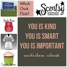 "Name the Chick Flick, Scentsy Party Game: ""The Help"" http://tammielyn.Scentsy.Us Www.facebook.com/groups/scentsysandiego"