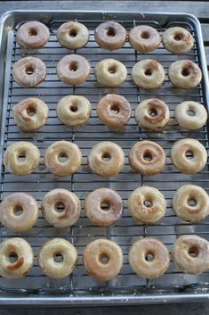 Gluten Free Doughnuts (Krispy Kreme Copycat) This post may contain affiliate links, which help keep content free, learn more .These Gluten Free Doughnuts are amazing! They are tender, Gluten Free Doughnuts, Gluten Free Treats, Gluten Free Desserts, Gluten Free Recipes, Gf Recipes, Paleo Sweets, Paleo Food, Cake Recipes, Gluten Free Cooking