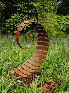 Sculpture Metal, Outdoor Sculpture, Outdoor Art, Metal Garden Sculptures, Spiral Garden, Metal Garden Art, Metal Garden Ornaments, Yard Sculptures, Architecture Concept Drawings