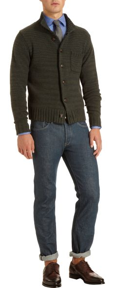 Todd Snyder Mock Neck Button Front Sweater