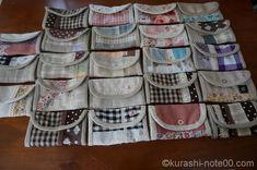 余り布でできるハンドメイドレシピ集|バザーに出せる小物たち | 【暮らしの音】kurashi-*note Pouch, Wallet, Bag Accessories, Diy And Crafts, Sewing, Cute, How To Make, Kids, Handmade