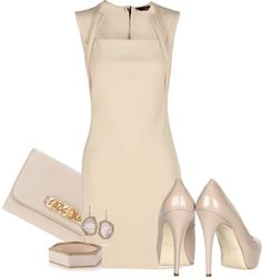 completely neutral. you could totally rock this for your wedding or even for your rehearsal dinner!