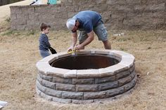 blog tutorial on how to make a fire pit