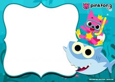 FREE Printable Baby Shark Pinkfong Birthday Invitation Template UPDATED