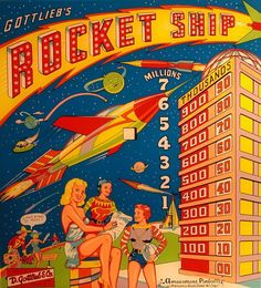 vintage pinball back glass art - Google Search