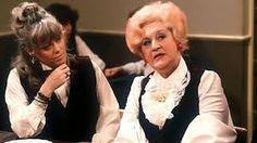 Mrs S & Miss Brahms on a Tea break Mollie Sugden, Are You Being Served, British Sitcoms, Tea, Image, Teas