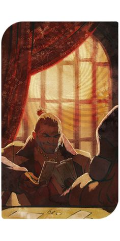 Varric tarot card: After Companion Quest & Wicked Grace (Well, Shit)