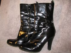 Vintage COSTUME NATIONAL Patent tBoots Avant Garde by LIFEofOLWEN, $59.99