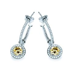 BOUTON yellow charm earrings