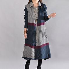 Women casual loose autumn knitting sweater coat