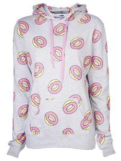 ODD FUTURE Donut Pattern Hoodie