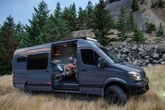 This converted 4x4 Mercedes-Benz Sprinter can go anywhere, sleep you comfortably, and haul enough gear to let you enjoy the outdoors any way you like it.