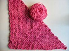 las tardes de Ana: Patrón chal rosa