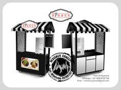 Desain Logo | Logo Kuliner |  Desain Gerobak | Jasa Desain dan Produksi Gerobak | Branding: Desain Gerobak Hidden Cafe