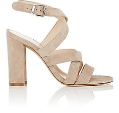 We Adore: The Suede Crisscross-Strap Sandals from Barneys New York at Barneys New York