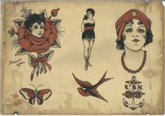 A treasure trove of antique tattoo flash is found in Corpus Christi – The Texican Hawaiianisches Tattoo, Back Tattoo, Devil Tattoo, Rib Tattoos, Arabic Tattoos, Dragon Tattoos, Tatoos, Tribal Horse Tattoo, Horse Tattoo Design