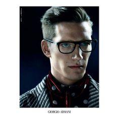 Florian Van Bael for Giorgio Armani Fall/Winter 2013/2014 Eyewear Campaign | The Fashionography