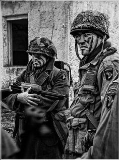 Screaming Eagles, with their war paint on!! Bastogne, 1944.