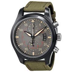 IWC Pilots Anthracite Dial Chronograph Ceramic and Titanium Mens Watch IW3880-02